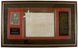 75: BENJAMIN FRANKLIN, Document Signed, 1787