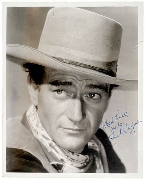 192: JOHN WAYNE Signed Photograph, c.1945