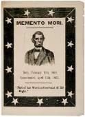 377: LINCOLN, c. 1865 Memento Mori Lincoln Memorial B
