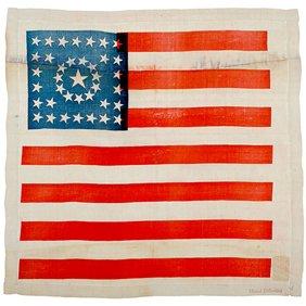 559: c. 1888, 38 Star Flag Kerchief