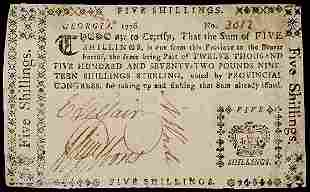 TELFAIR - GIBBONS, Signed Colonial Currency,1777