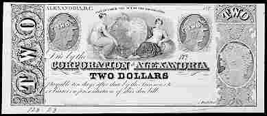 940: Obsolete Currency, DC, Corp. of Alexandria, $2