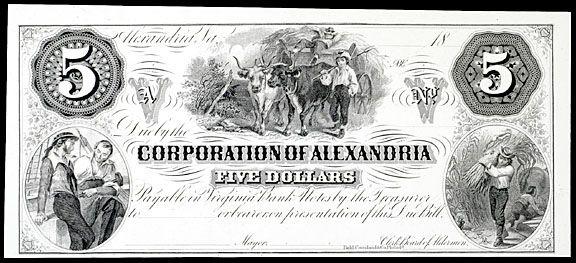 Obsolete Currency, Alexandria, VA, Corporation, $