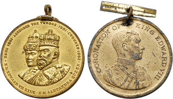 1264: Two British Coronation Medals:Edward VII and VII