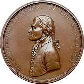 1274: 1801 Jefferson Indian Peace Medal, Bronze