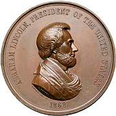 1281 1862 Abraham Lincoln Indian Peace Medal