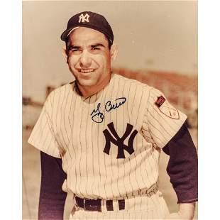 YOGI BERRA MLB Hall of Famer 2 Signed Photographs