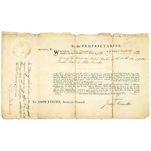 1795 General DANIEL BRODHEAD Signed Land Grant