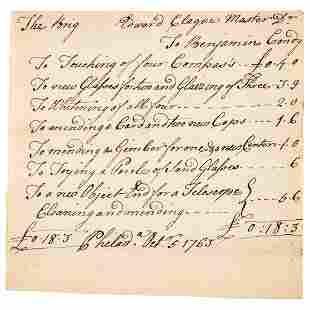 1763 BENJAMIN CONDY Phila Naval Instrument Maker