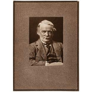 Photo Signed by Prime Minister David Lloyd George