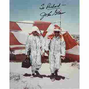 JOHN GLENN Inscribed and Signed Rare Photograph