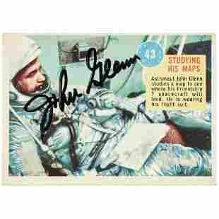 JOHN GLENN Signed Astronaut Trading Card Rarity