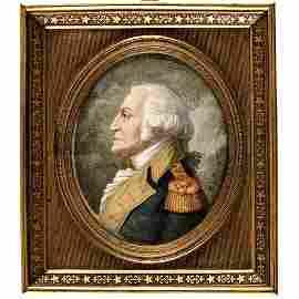 c 1830 Genl. George Washington Miniature Portrait