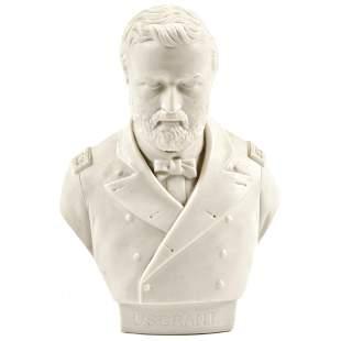 1864 3-Star Lt Gen Ulysses S. Grant Display Bust