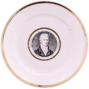 c. 1817 Rare JAMES MONROE French Porcelain Plate