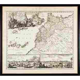 1728 Map titled, STATUUM MAROCCA NORUM by Homann