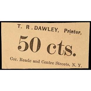 U.S. Postage Stamp Envelope, 50, T. R. DAWLEY