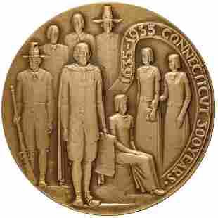 1935 Connecticut Tercentenary Medal Mint, Bronze