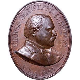 (1885) Grover Cleveland Indian Peace Medal Oval