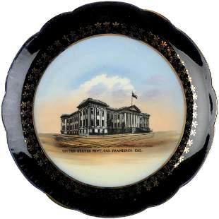 c. 1910 Choice San Francisco Mint Souvenir Plate