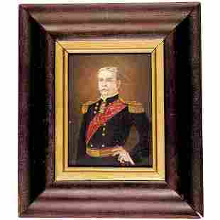 1870s Union General Nelson A. Miles Oil Painting
