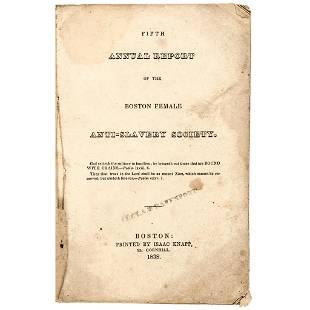1838 Boston Female Anti-Slavery Society Annual Report