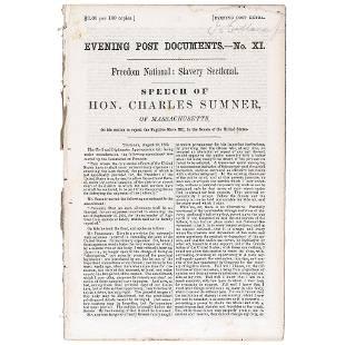 1852 Speech Freedom National: Slavery Sectional