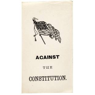1864 Civil War Ballot Against the MD Constitution