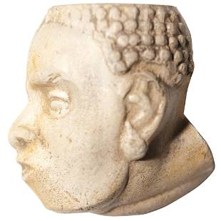 1800s Black History African Slave Head Pipe Bowl