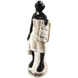 c 1880 Womans Suffrage Satirical Bisque Figurine