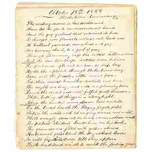1858 Poem with Inferences to Slavery and Greed
