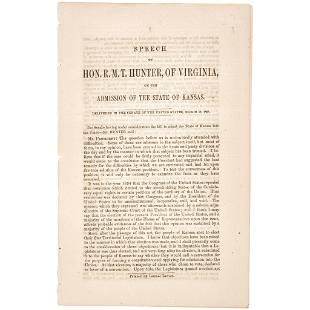 1858 Slavery Debate - State of Kansas Admission