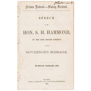 1860 Freedom National Slavery Sectional SPEECH