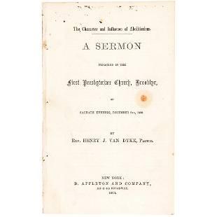 1860 Civil War Imprint, Review of... Abolitionism