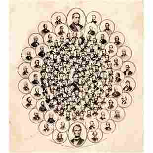 1865 Photographic Collage of EMANCIPATION LEADERS
