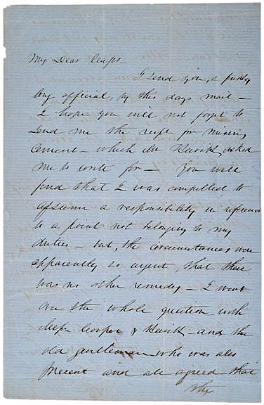 2003: ROBERT ANDERSON, Signed Letter (1856)