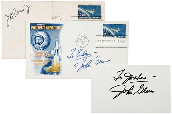 2007: Astronaut John Glenn Signatures (3)