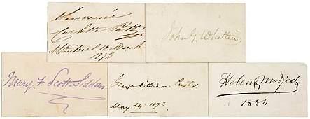 2014: AUTOGRAPH ALBUM: Five 19th Century Authors