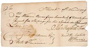 2016: John Bayard Signed Document 1779