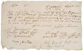 2029: George Clark Signature, 1713