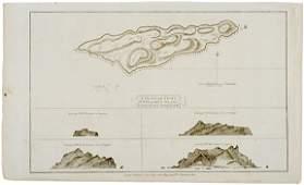 2161 c 1781 Map Captain Cook Voyages