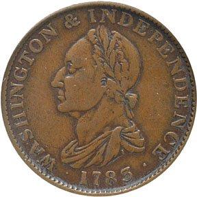 2261: 1783 Washington-Independence Draped Bust Cent