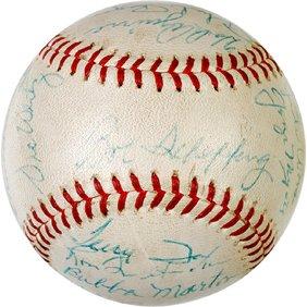 4: BASEBALL, Baseball Signed by 1962 Detroit Tigers