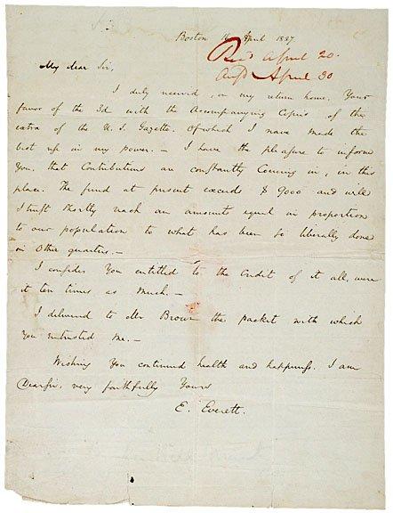 7: EDWARD EVERETT, Autograph Letter Signed, 1827