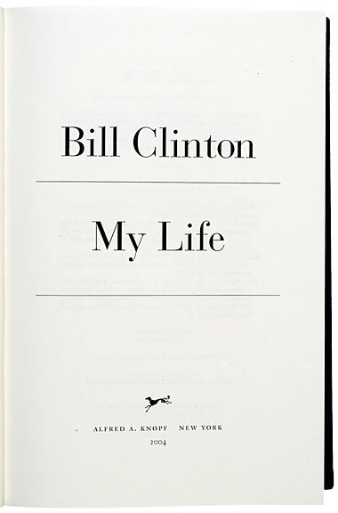 10: BILL CLINTON Limited Edition Book Signed, 2004