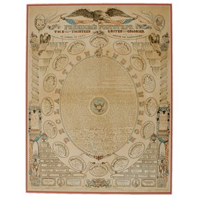 17: DECLARATION OF INDEPENDENCE Printed Lithograph