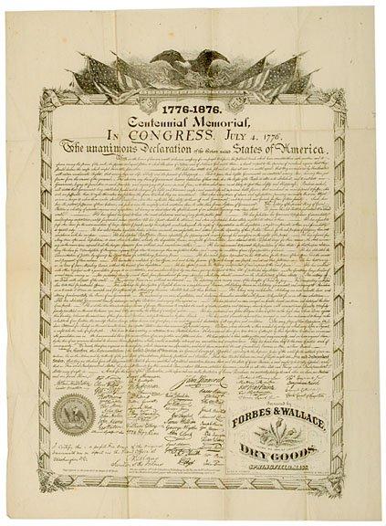 20: DECLARATION OF INDEPENDENCE, Centennial Reprint
