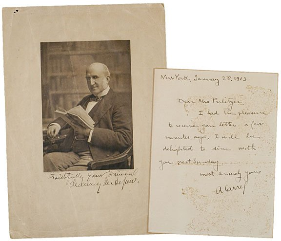 23: CHAUNCEY M. DEPEW and ALEXIS CARREL Signatures