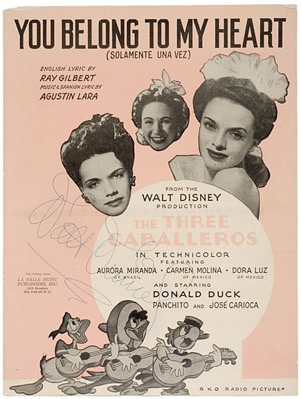 24: WALT DISNEY Musical Score Signed, 1943