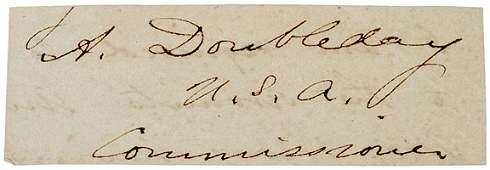 25: ABNER DOUBLEDAY Signature
